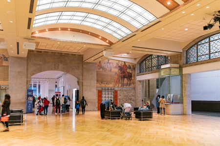 Toronto, OCT 6: Interior view of the Royal Ontario Museum on OCT 6, 2018 at Toronto, Canada