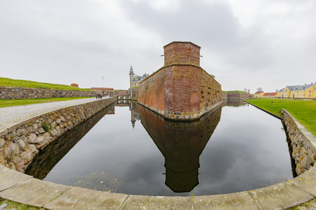 Exterior view of the famous Kronborg Castle at Denmark