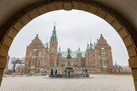 Municipality, NOV 1: Afternoon exterior view of the famous Frederiksborg Castle on NOV 1, 2015 at Municipality, Denmark
