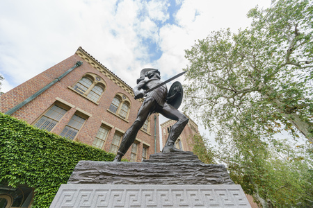 Los Angeles, APR 4: Tommy Trojan, Bovard Auditorium of USC on APR 4, 2019 at Los Angeles, California
