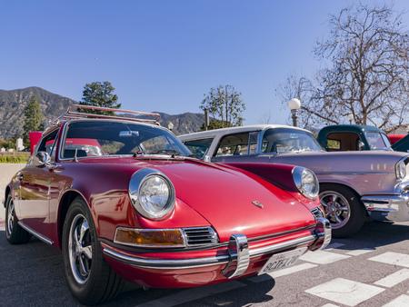 Sierra Madre, MAR 17: Antique car display in the Wisteria Festival on MAR 17, 2019 at Sierra Madrea, California