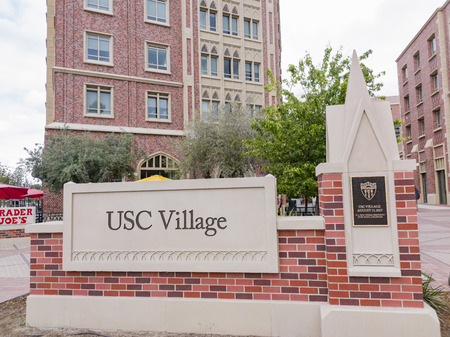 Los Angeles, APR 4: Sign of USC Village on APR 4, 2019 at Los Angeles, California