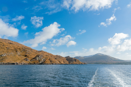 Beautiful nature scene around Connemara National Park via Killary Fjord Boat Cruise at Galway, Ireland