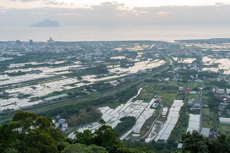 The beautiful sunrise landscape of Lanyang Plain at Yilan, Taiwan