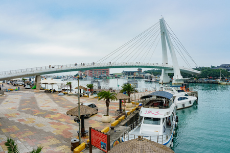 Taipei, JAN 5: The Lover's Bridge of Tamsui Fisherman's Wharf on JAN 5, 2019 at Taipei