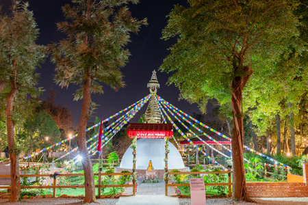 Taichung, DEC 20: Night view of the World Garden of Taichung World Flora Exposition on DEC 20, 2018 at Taichung