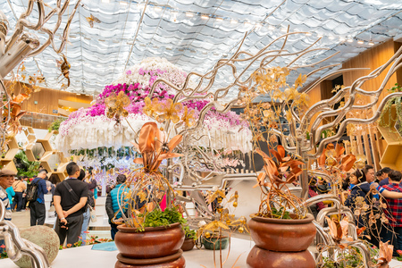 Taichung, DEC 22: Interior view of the Blossom Pavilion of Taichung World Flora Exposition on DEC 22, 2018 at Taichung, Taiwan Sajtókép