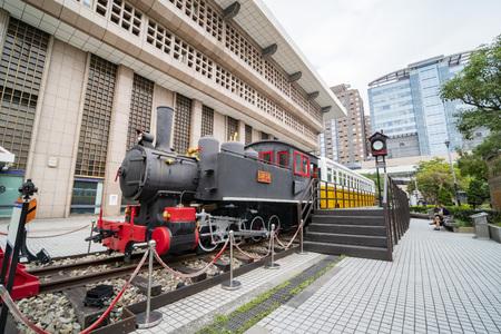 Taipei, JAN 10: Exterior view of the  Taipei main Station on JAN 10, 2019 at Taipei