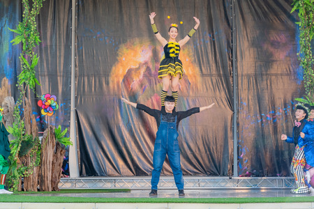 Taichung, DEC 20: Performance in Blossom Outdoor Theater of Taichung World Flora Exposition on DEC 20, 2018 at Taichung Éditoriale