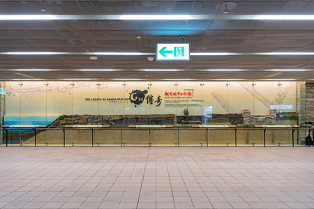 Taipei, DEC 19: Interior view of Beimen Station on DEC 19, 2018 at Taipei, Taiwan