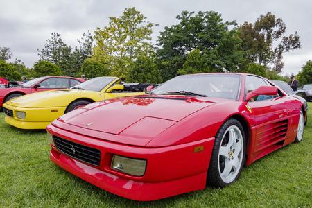 Los Angeles, JUN 2: Ferrari fans car show on JUN 2, 2019 at Los Angeles Redakční