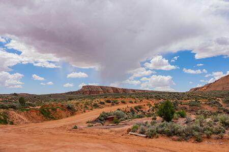 Beautiful landscape around the famous Antelope Canyon X at Page, Arizona 免版税图像