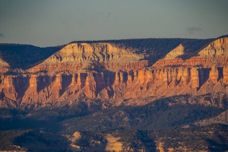 Beautiful sunset view of the Bryce Canyon National Park at Bryce Point, Utah