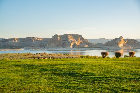View of the Lake Powell at Page, Arizona