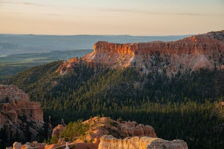 Morning view of the famous Bryce Canyon National Park from Sunrise Point at Utah