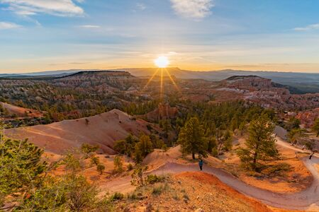 Sunrise of the famous Bryce Canyon National Park from Sunrise Point at Utah