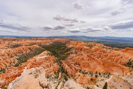 Morning view of the famous Bryce Canyon National Park from Inspiration Point at Utah Stok Fotoğraf