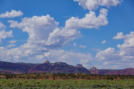 Beautiful rural landscape around Page at Arizona
