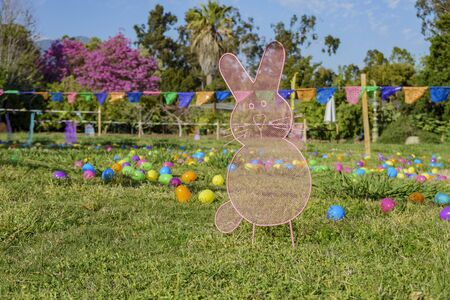 The park had decorate as Easter theme at Los Angeles, California