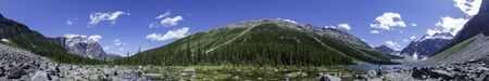 Beautiful landscape around Consolation Lakes at Banff, Canada