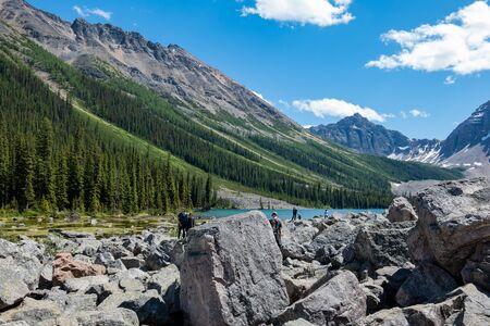 Banff, JUL 26: Beautiful landscape around Consolation Lakes on JUL 26, 2019 at Banff, Canada