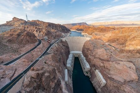 Afternoon view of the famous Hoover Dam at Nevada