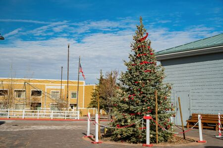 Chritmas decoration of the Williams town at Arizona Stock Photo