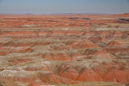 Beautiful landscape of Painted Desert Rim, Petrified Forest National Park at Arizona