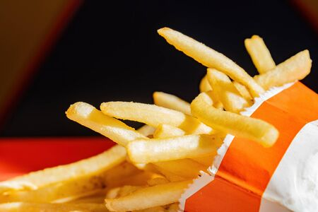 Close up shot of French fries, ate at Las Vegas, Nevada 免版税图像