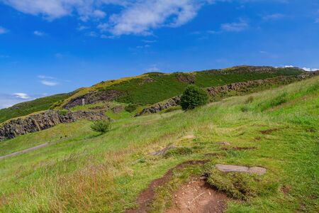 Beautiful natural landscape of Holyrood Park at Edinburgh