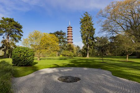 The beautiful Great Pagoda of the Kew Garden at Richmond, United Kingdom