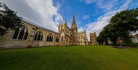 Sunny exterior view near Chichester Cathedral at United Kingdom