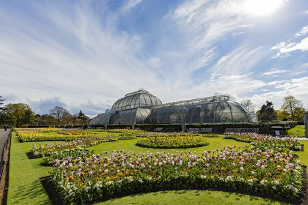 The beautiful Palm House of the Kew Garden at Richmond, United Kingdom
