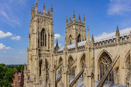 Exterior view of the York Minster at United Kingdom