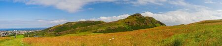 Beautiful natural landscape of Holyrood Park at Edinburgh Zdjęcie Seryjne