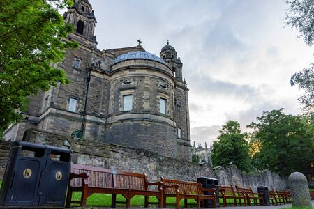 Exterior view of the The Parish Church of St Cuthbert at Edinburgh, United Kingdom