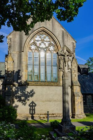 Exterior view of a church at Ambelside, United Kingdom 스톡 콘텐츠