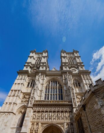Exterior view of the Westminster Abbey at London, United Kingdom 写真素材