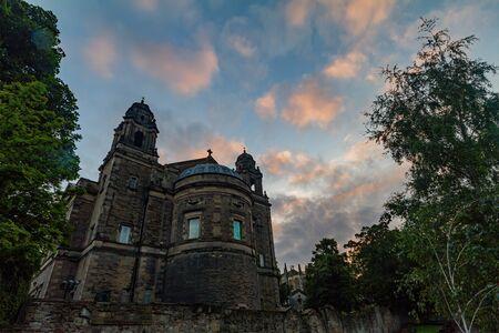 Exterior view of The Parish Church of St Cuthbert at Edinburgh, United Kingdom 写真素材