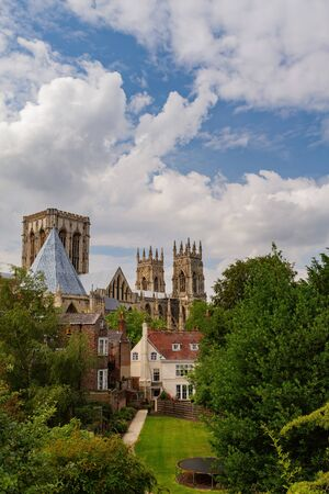 Exterior view of the York Minster at York, United Kingdom