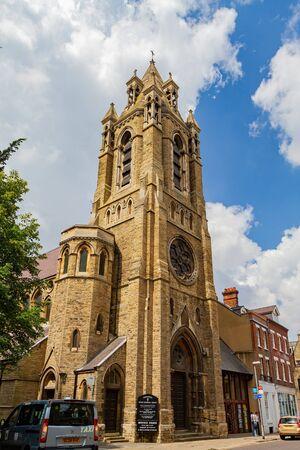 Cambridge, JUL 10: Exterior view of the Emmanuel United Reformed Church on JUL 10, 2011 at Cambrdige, United Kingdom