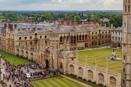 Cambridge, JUL 10: Aerial view of the King's College and cityscape on JUL 10, 2011 at Cambridge, United Kingdom