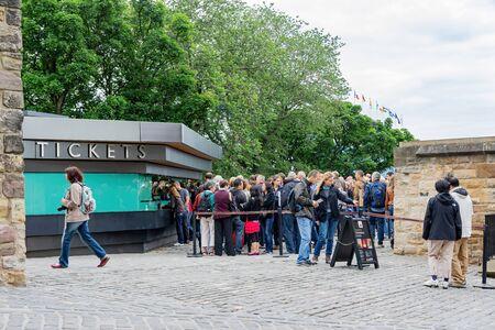 Edinburgh, JUL 12: People were queueing to enter the famous Edinburgh Castle on JUL 12, 2011 at Edinburgh