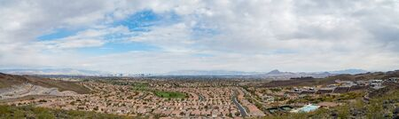 Beautiful residence area of MacDonald Ranch with the strip view at Henderson, Nevada