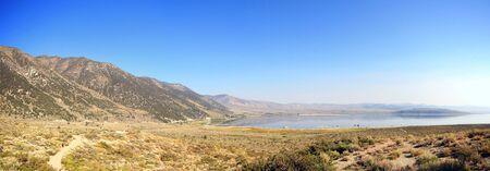 High angle view of the Mono Lake at California