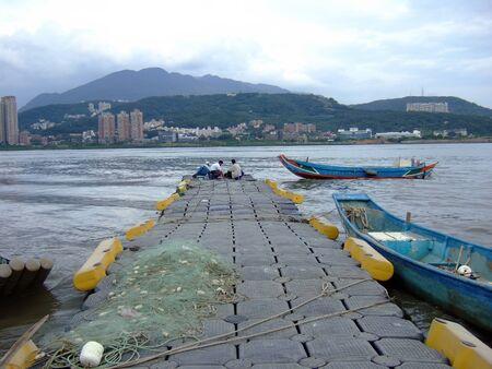Beautiful landscape around Tamsui River at Taipei, Taiwan