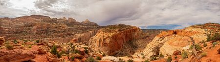 Daytime of the Beautiful Cassidy Arch of Capitol Reef National Park at Utah