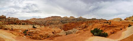 Beautiful landscape along the Cassidy Arch Trail of Capitol Reef National Park at Utah