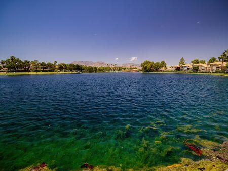 Sunny view of the Desert Shores community at Las Vegas, Nevada Reklamní fotografie
