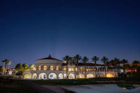 Night view of some beautiful residence house at Lake Las Vegas, Nevada